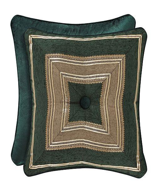 "J Queen New York J Queen Emerald Isle 18"" Square Decorative Pillow"