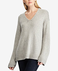 Lauren Ralph Lauren Marled V-Neck Sweater