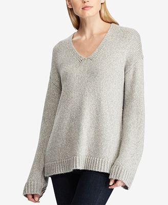 Lauren Ralph Lauren Marled V Neck Sweater Sweaters Women Macys