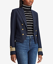 Lauren Ralph Lauren Twill Military-Inspired Jacket