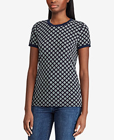 Lauren Ralph Lauren Printed Stretch T-Shirt