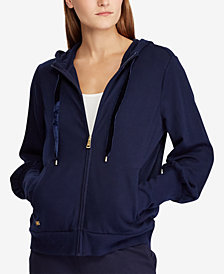 Lauren Ralph Lauren Puff-Sleeve French Terry Hoodie