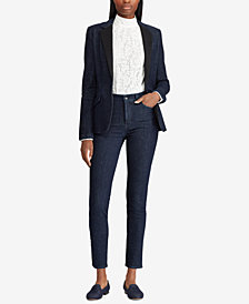Lauren Ralph Lauren Striped Regal Skinny Jeans