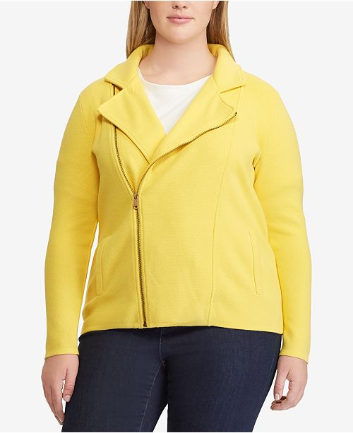 e8d000d8d075a Lauren Ralph Lauren Plus Size Moto Jacket   Reviews - Jackets ...