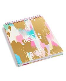 "Tri-Coastal ""life's A Doodle"" Large Spiral Sketch Book"