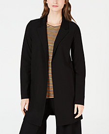 Eileen Fisher Washable Crepe Classic Long Jacket, Regular & Petite