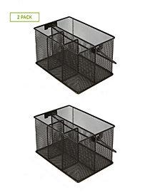 Mind Reader Storage Basket Organizer, 2 Pack, Black