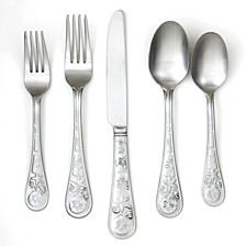 Seaside Satin 20-Piece Flatware Set, Service for 4