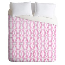 Deny Designs Holli Zollinger Tribal Pink Queen Duvet Set