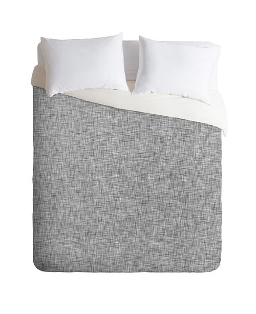 Deny Designs Holli Zollinger Linen Grey Light King Duvet Set