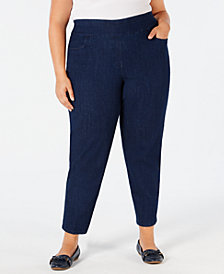 Alfred Dunner Plus Size Greenwich Hills Pull-On Pants