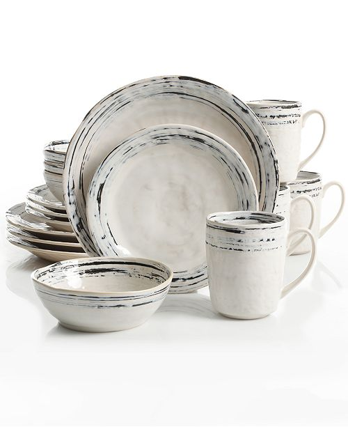 Laurie Gates Potenza 16-Pc. Dinnerware Set, Service for 4