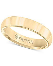 Domed Comfort Fit Band in Yellow Tungsten Carbide