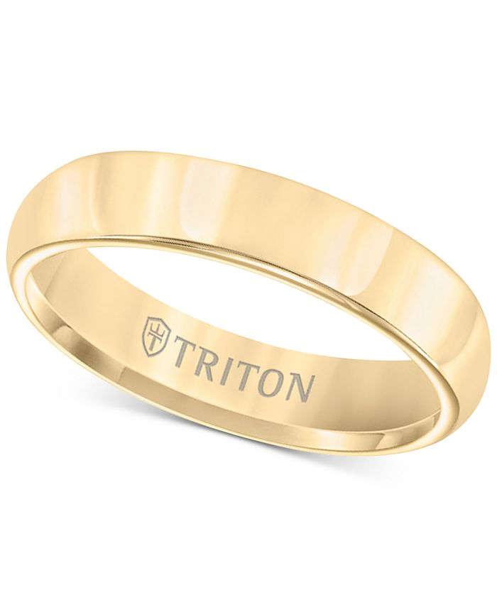 Triton - Domed Comfort Fit Band in Yellow Tungsten Carbide