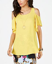 Thalia Sodi Yellow Womens Tops Macy S
