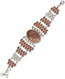 Lucky Brand Silver-Tone Multi-Stone Flex Bracelet