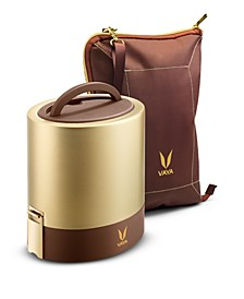 Vaya Tyffyn 1000 Gold Lunch Box with Bagmat - 33.5 oz