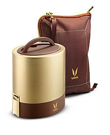 Vaya Tyffyn 1000 Gold Lunch Box with Bagmat - 33.5 oz
