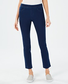 Karen Scott Joey Cotton Pull-On Jeans, Created for Macy's