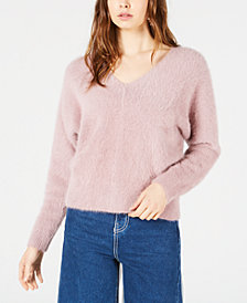 Sage The Label Cropped Fuzzy Sweater