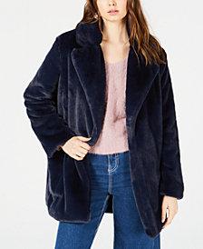 Sage The Label Faux Fur Open-Front Coat
