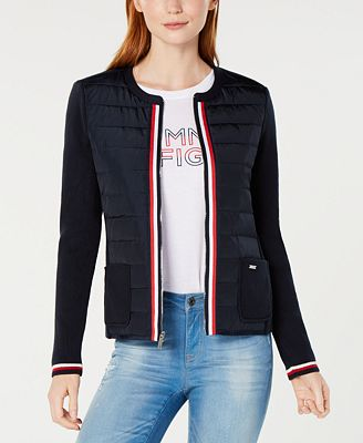 Tommy Hilfiger Sweater Puffer Jacket Created For Macys Jackets