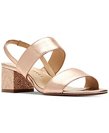 Annalie Smooth Metallic Sandals