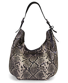 T Tahari Jackie Leather Oversized Hobo