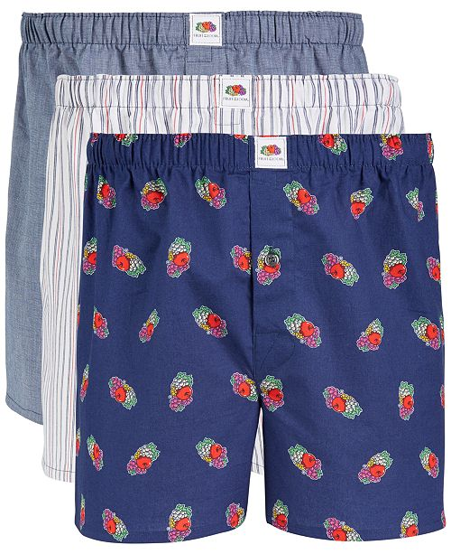 43c0b8fe810c ... Fruit of The Loom Men's 3-Pk. Limited Edition Woven Cotton Boxers ...