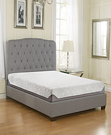 "Ultima 8"" Medium Firm Plush Top Cooling Air Flow Gel Memory Foam Mattress, Full"