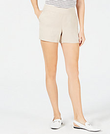 Maison Jules Pull-On Shorts, Created for Macy's