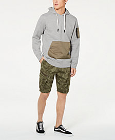 American Rag Leaf Print Shorts & Pocket Hoodie, Created for Macy's