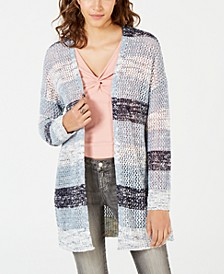 Juniors' Striped Cardigan Sweater, Created for Macy's