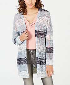 American Rag Juniors' Striped Cardigan, Created for Macy's
