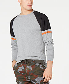 American Rag Men's Varsity Raglan Long-Sleeve T-Shirt, Created for Macy's