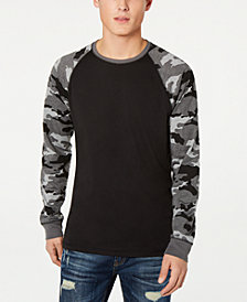 American Rag Men's Raglan Camo Long-Sleeve T-Shirt, Created for Macy's