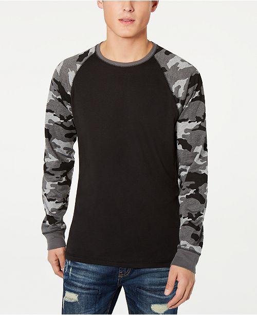 b85a6bf1f2d0b7 ... American Rag Men's Raglan Camo Long-Sleeve T-Shirt, Created for Macy's  ...