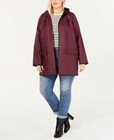 Levi's® Plus Size Hooded Rain Jacket