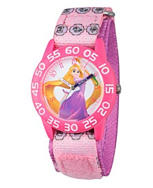 Disney Princess Rapunzel Girls' Pink Plastic Time Teacher Watch