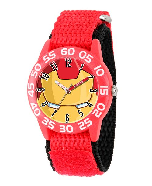 ewatchfactory Marvel's Avengers: Iron Man Boys' Red Plastic Time Teacher Watch