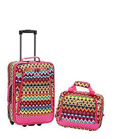 Rockland 2-Piece Tribal Luggage Set