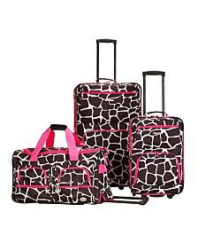 Rockland Giraffe 3PCE Softside Luggage Set