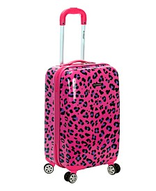 "Rockland Pink Leopard 20"" Hardside Carry-On"