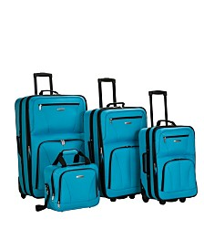 Rockland 4PC Softside Luggage Set