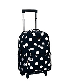 "Rockland Dots 17"" Rolling Backpack"