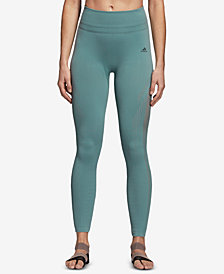 adidas Warp-Knit High-Rise Ankle Leggings