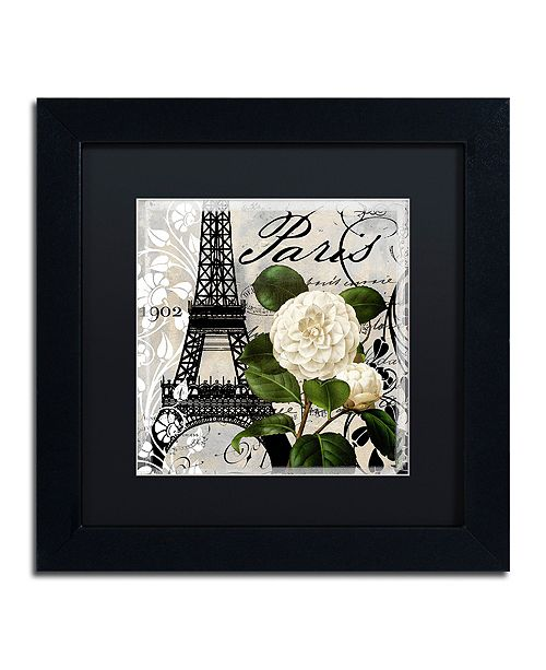 "Trademark Global Color Bakery 'Paris Blanc I' Matted Framed Art, 11"" x 11"""