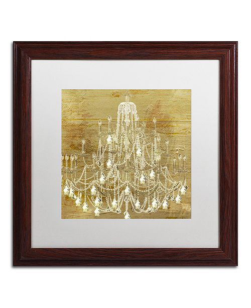 """Trademark Global Color Bakery 'Dancing On The Ceiling Ii' Matted Framed Art, 16"""" x 16"""""""
