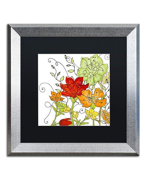 "Trademark Global Color Bakery 'Aria I' Matted Framed Art, 16"" x 16"""