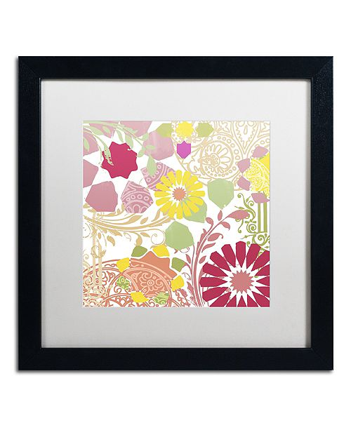 "Trademark Global Color Bakery 'Esperanza Ii' Matted Framed Art, 16"" x 16"""